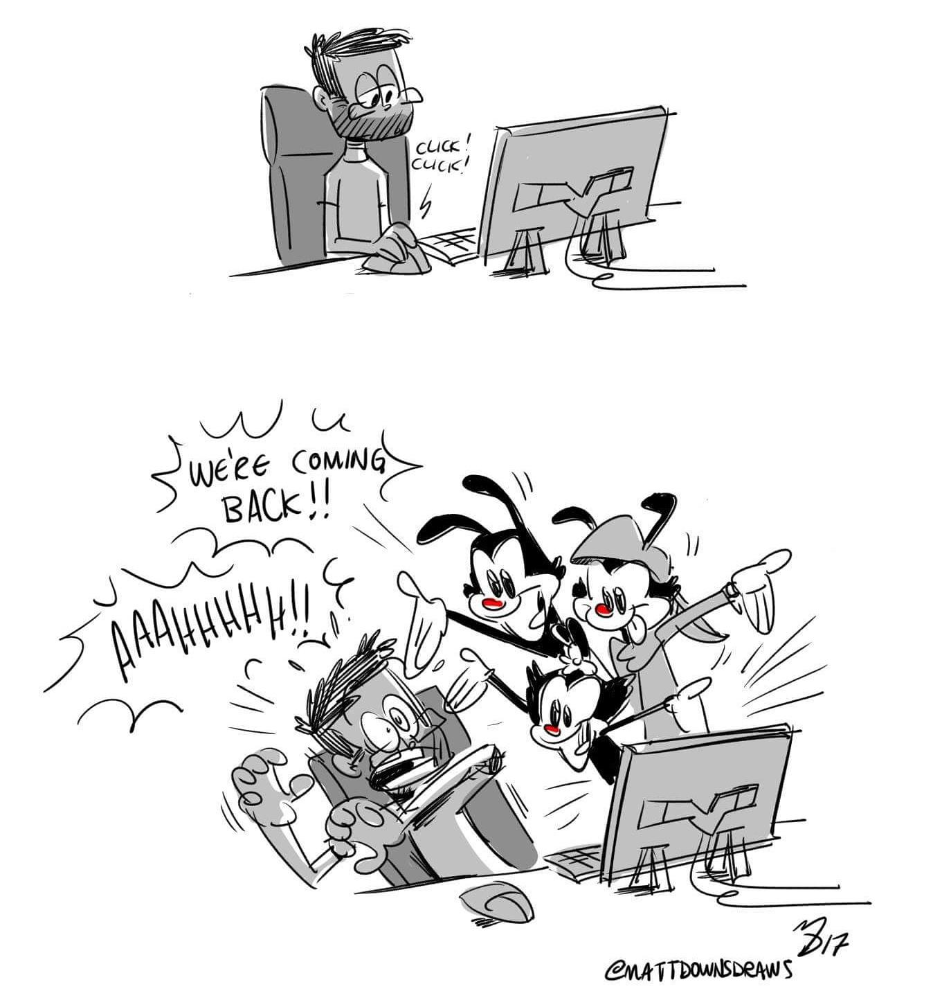 Animaniacs Reboot??   Matt Downs Draws!